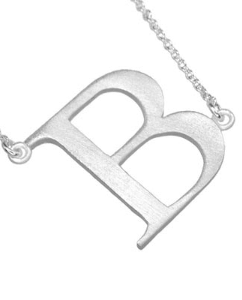 Bold Initial 'B' Necklace