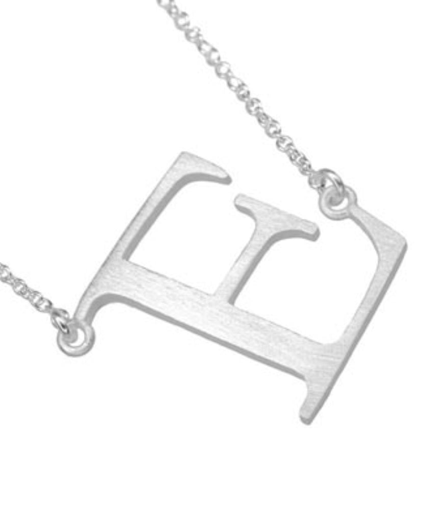 Bold Initial 'E' Necklace