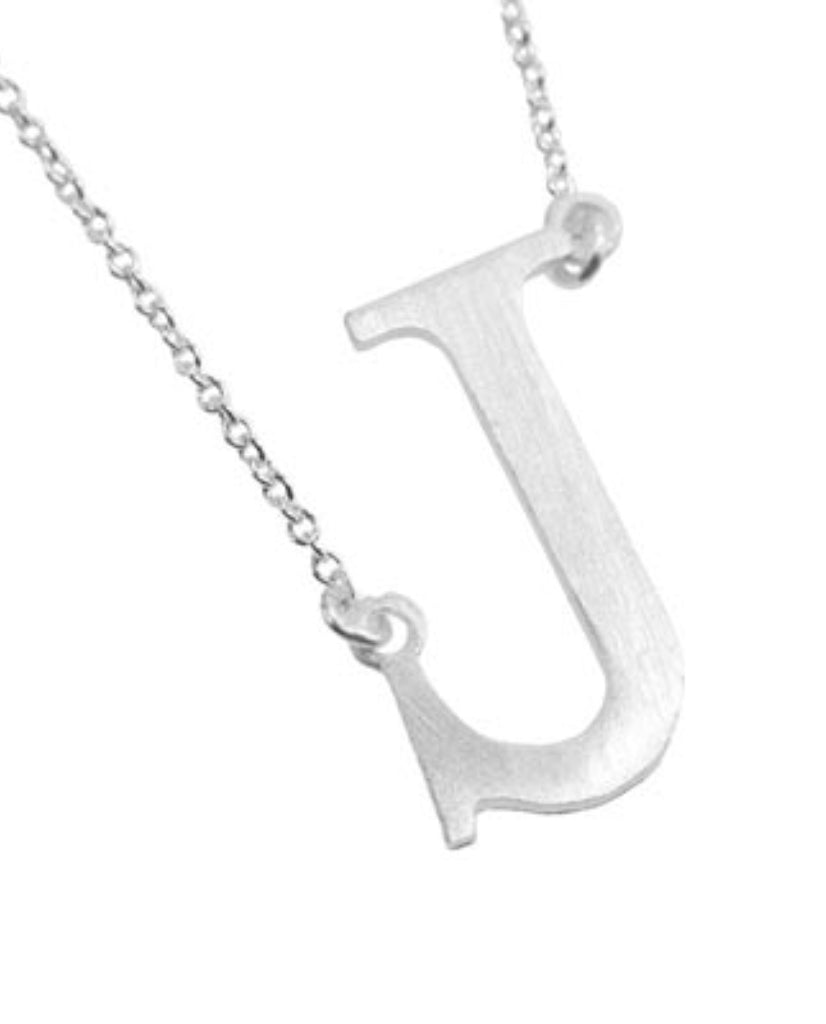 Bold Initial 'J' Necklace