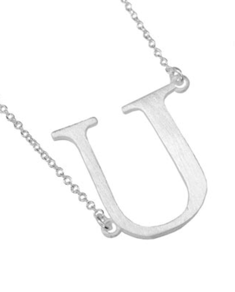 Bold Initial 'U' Necklace