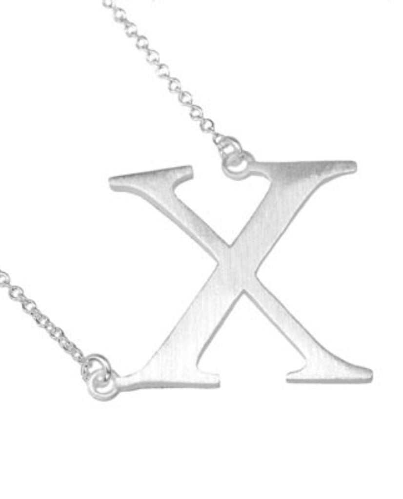 Bold Initial 'X' Necklace