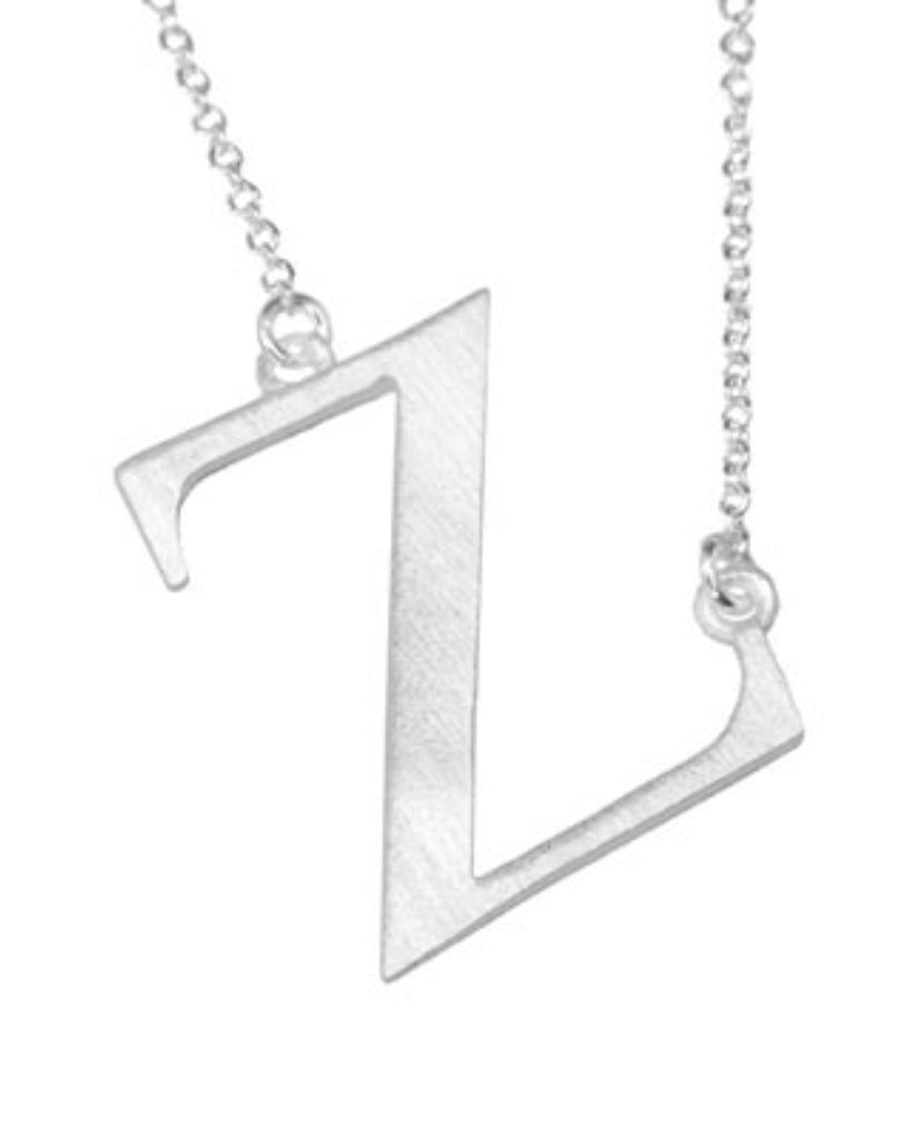 Bold Initial 'Z' Necklace