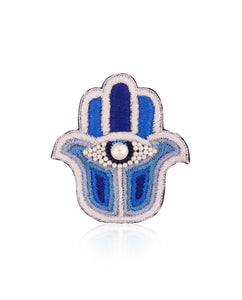 Two-Tone Hamsa Broach