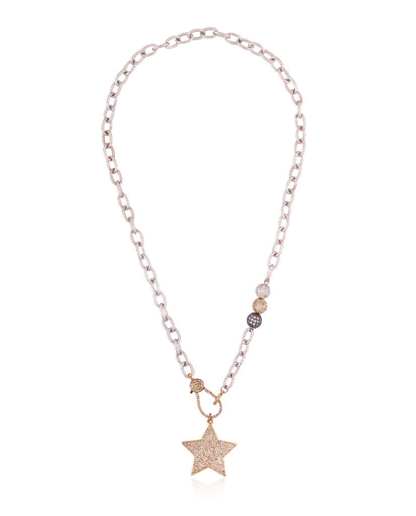 Triple Bead Star Necklace