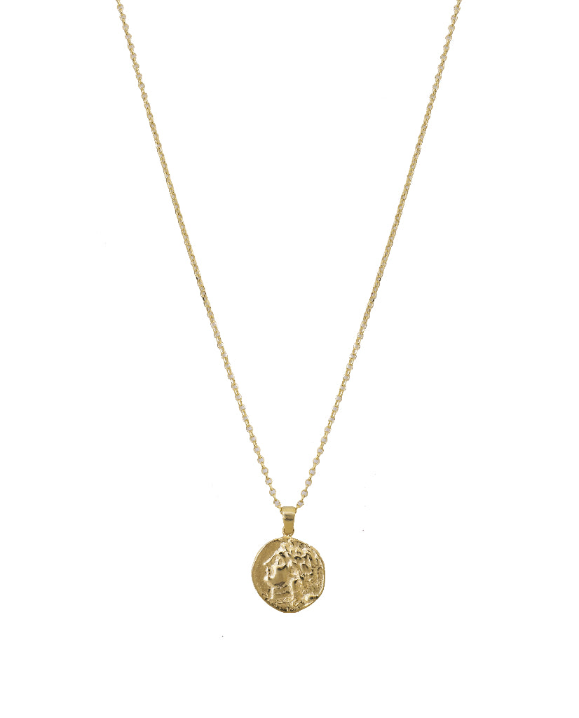 Annie Embossed Medallion Necklace