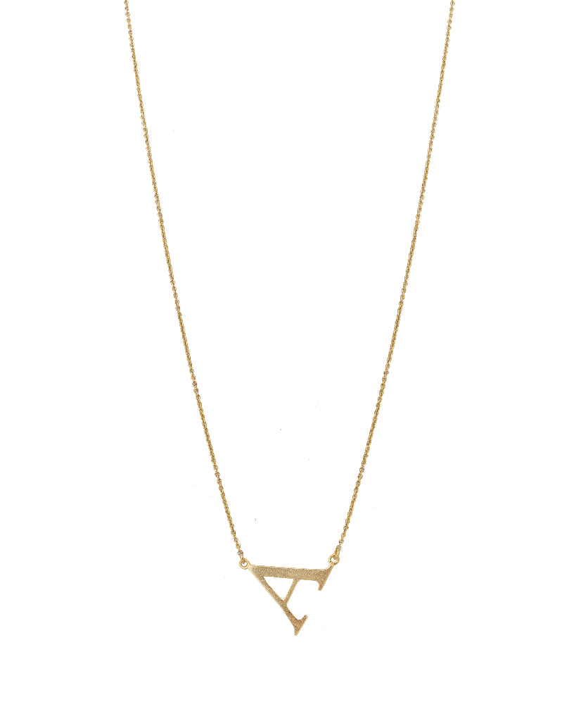 Bold Initial 'A' Necklace