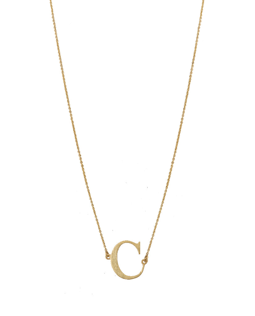 Bold Initial 'C' Necklace