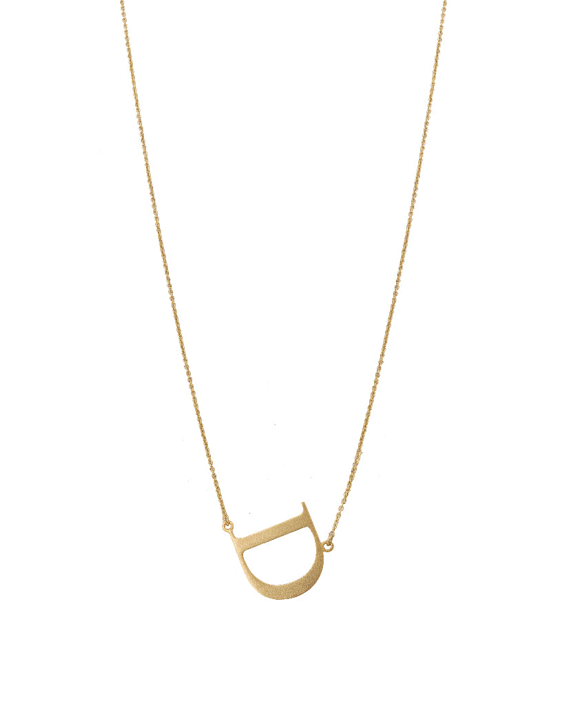 Bold Initial 'D' Necklace