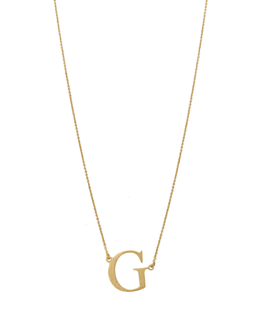 Bold Initial 'G' Necklace