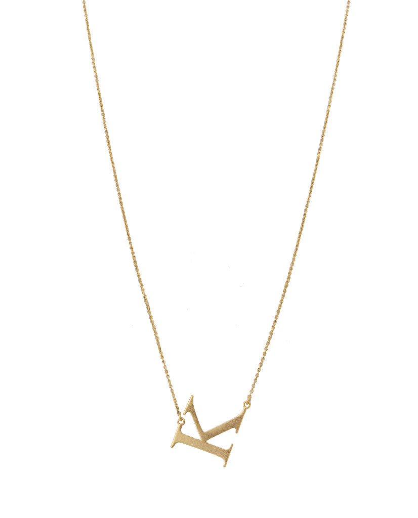 Bold Initial 'K' Necklace