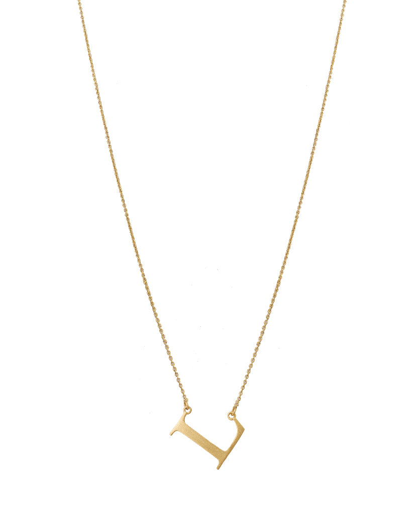 Bold Initial 'L' Necklace