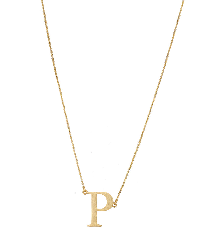 Bold Initial 'P' Necklace