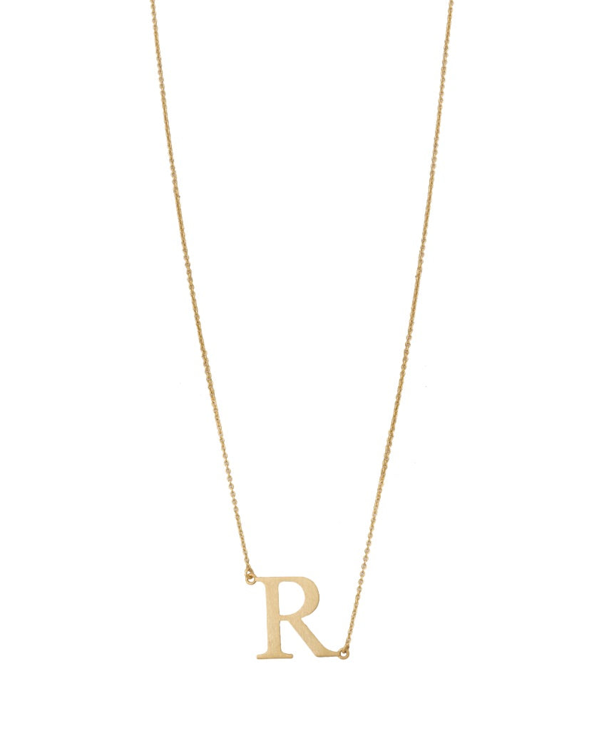 Bold Initial 'R' Necklace