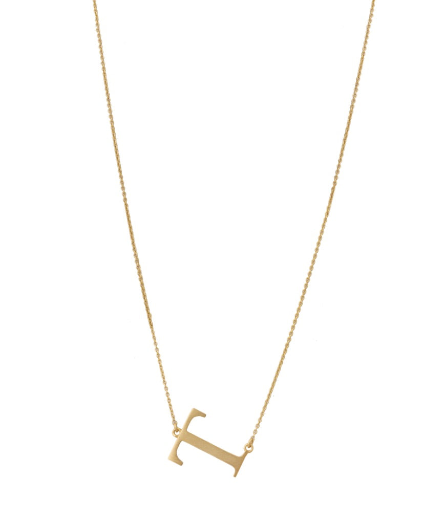 Bold Initial 'T' Necklace