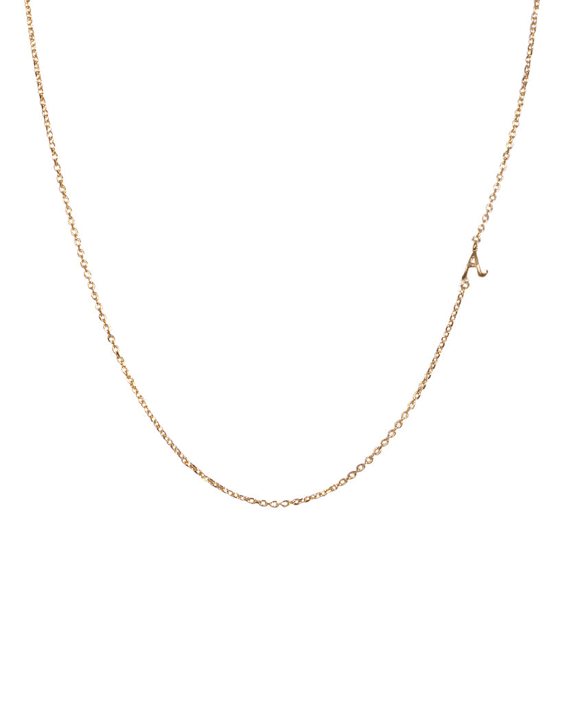 Dainty Initial 'A' Necklace