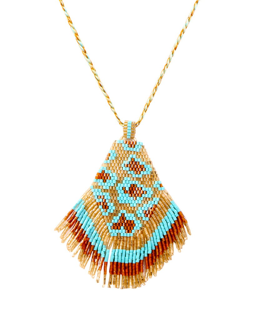 Red Beaded Aztec Necklace