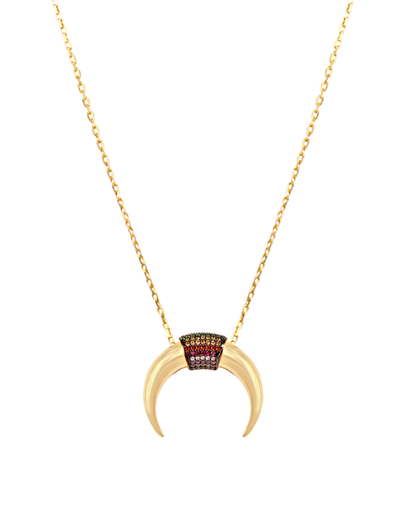 To The Moon and Back Crescent Necklace