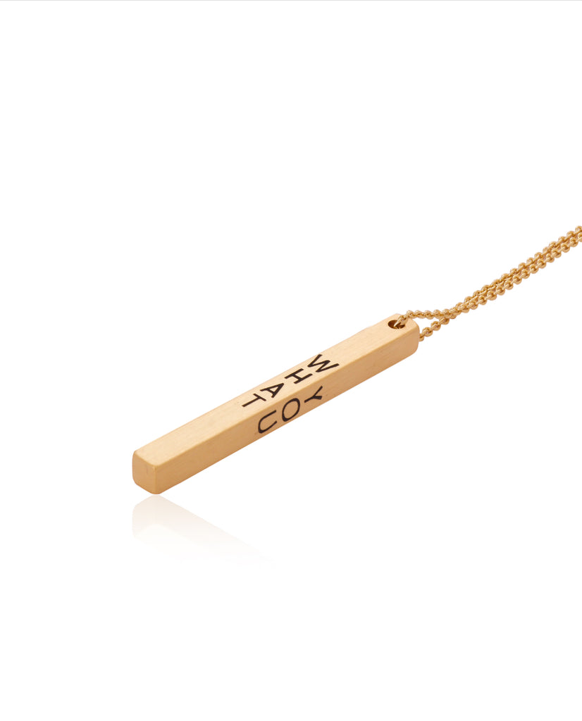 Live What You Love Bar Necklace