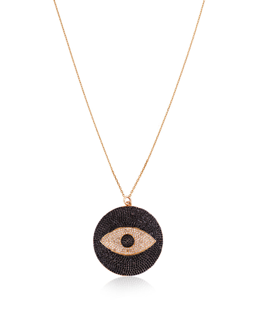 See No Evil Gold Pendant