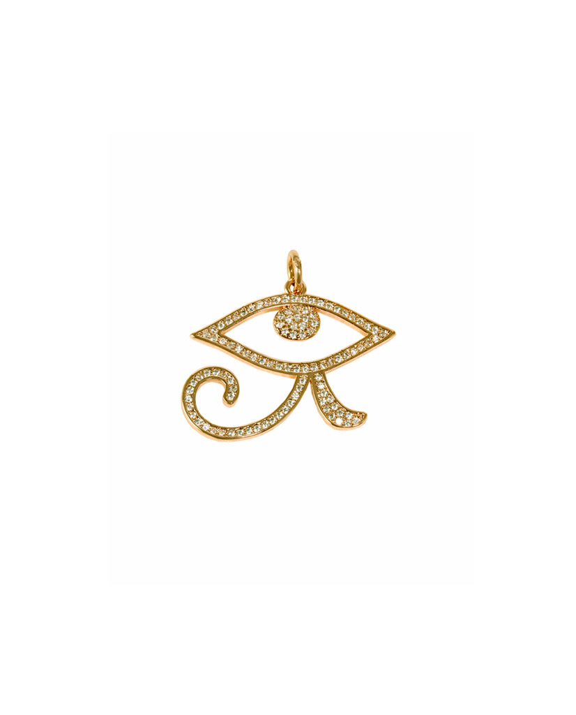 Bold Gold Eye Pendant