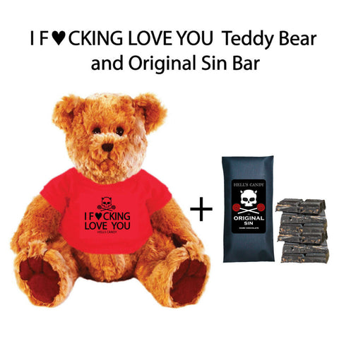 I F♥cking Love You Teddy Bear + Original Sin Bar