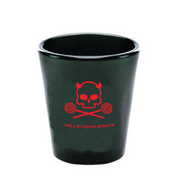 Black Skull & Lollipop Shot glasses x2