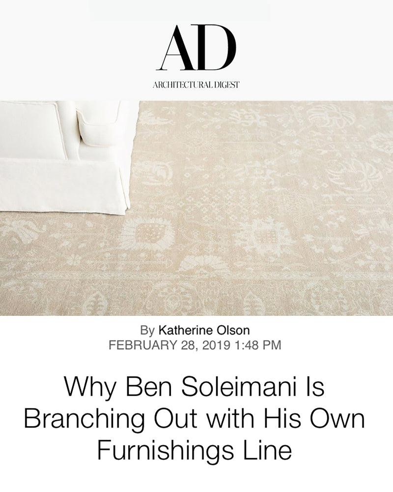 Why Ben Soleimani is branching out with his own furnishings line