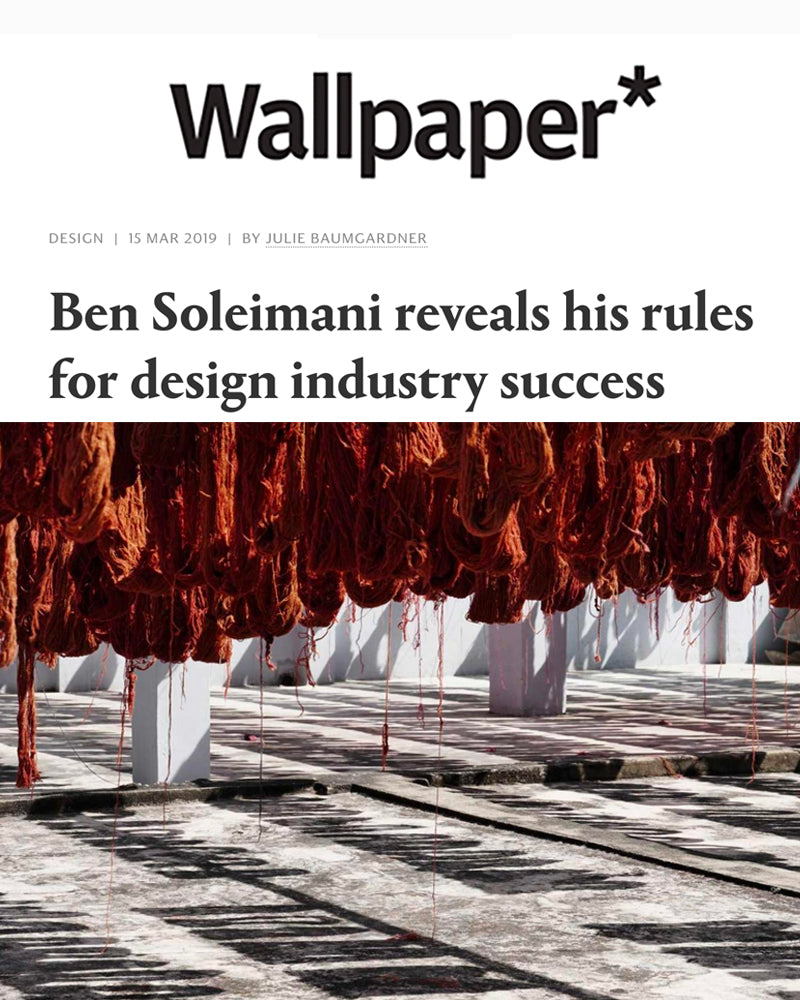 Ben Soleimani reveals his rules for design industry success