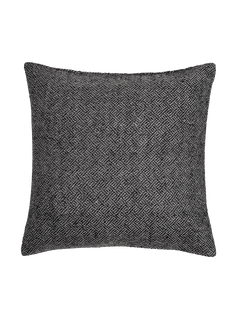 Angled Diamond Pillow Cover - Charcoal