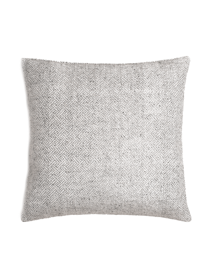 Angled Diamond Pillow Cover - Silver