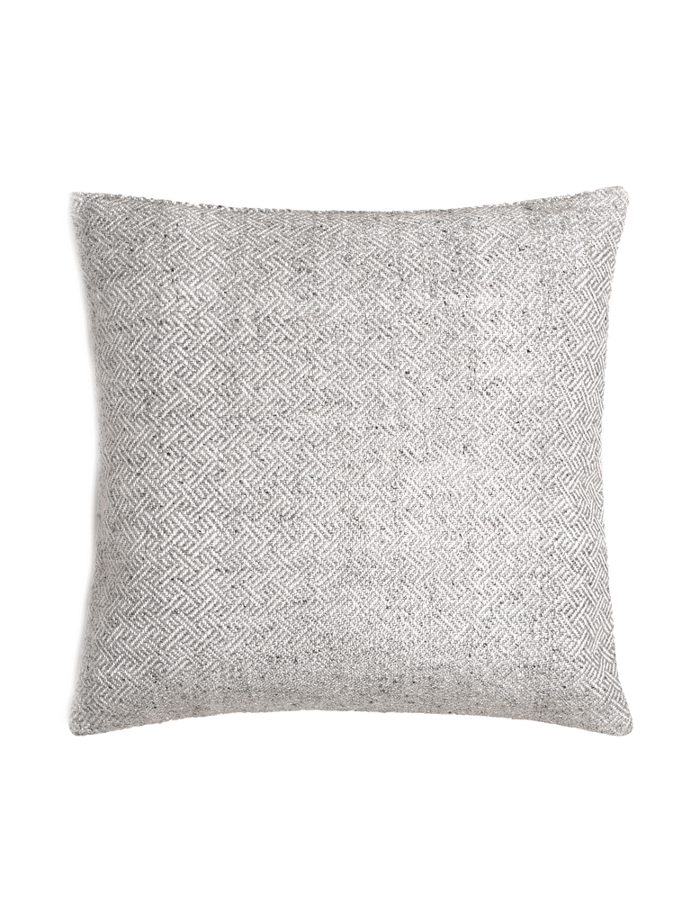 Angled Diamond Pillow Cover - Silver - color option