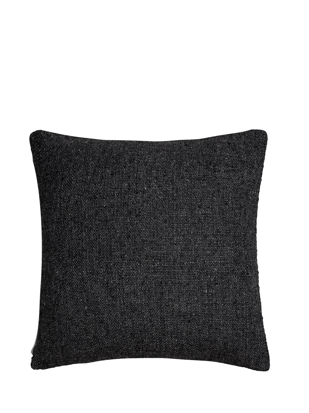 Basketweave Pillow Cover - Charcoal