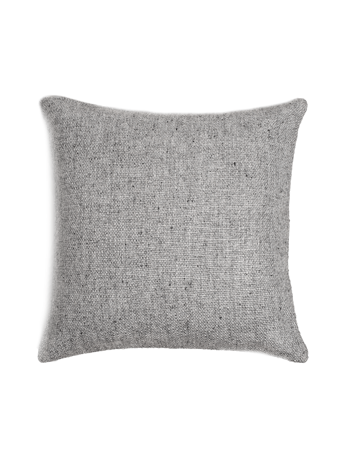 Basketweave Pillow Cover - Silver
