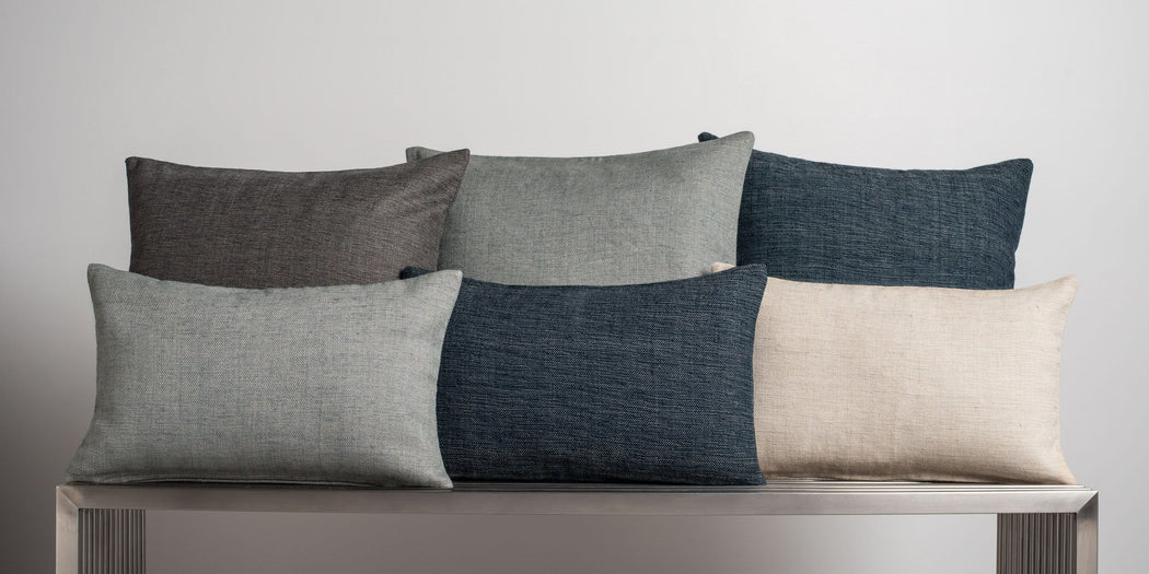 Textured Pillow Cover - Charcoal