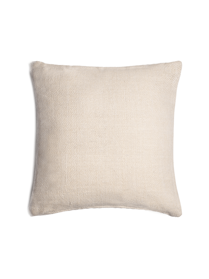 Textured Linen Pillow Cover – Ivory