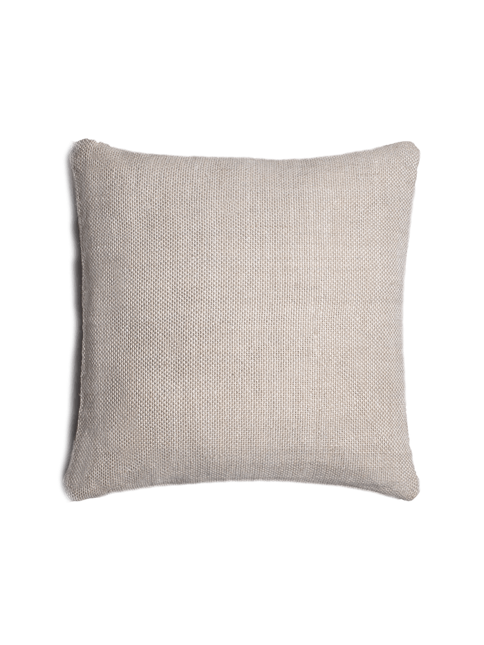 Textured Linen Pillow Cover – Natural / Silver