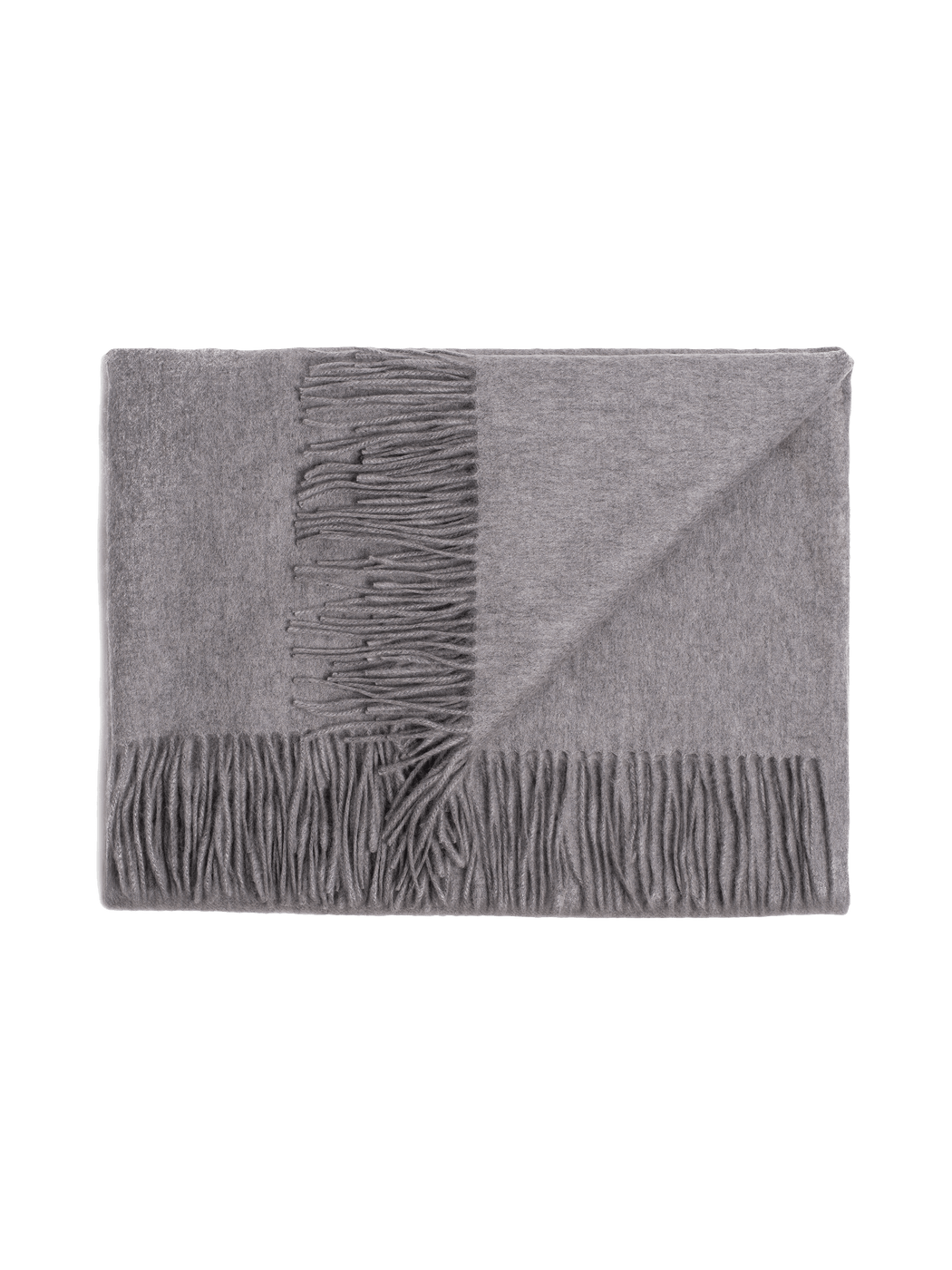Cashmere Oversized Throw - Grey