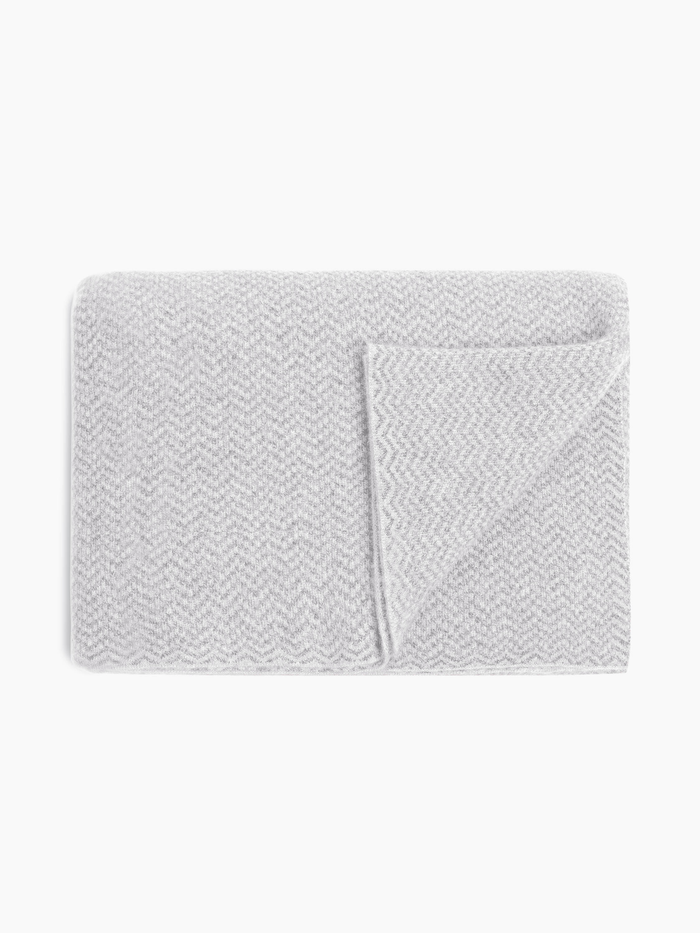 Cashmere Chevron Throw - Grey