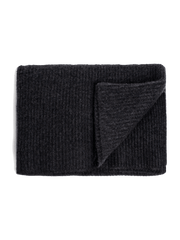 Ribbed Cashmere Throw - Charcoal