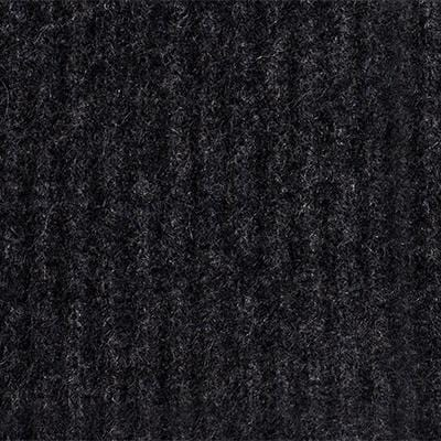 Ribbed Cashmere Throw - Charcoal - color option