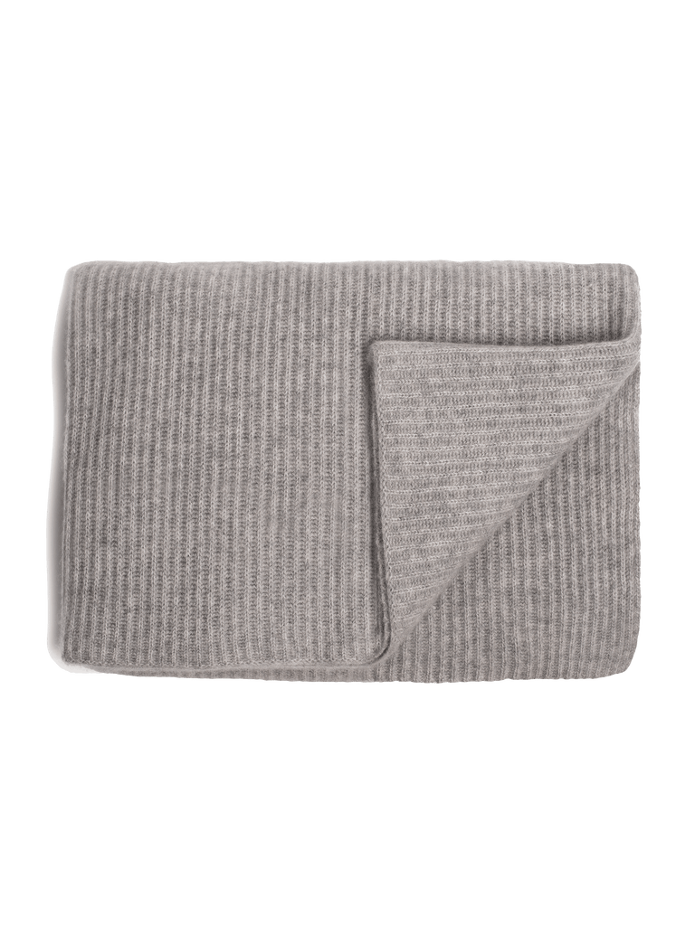 Ribbed Cashmere Oversized Throw - Grey - color option