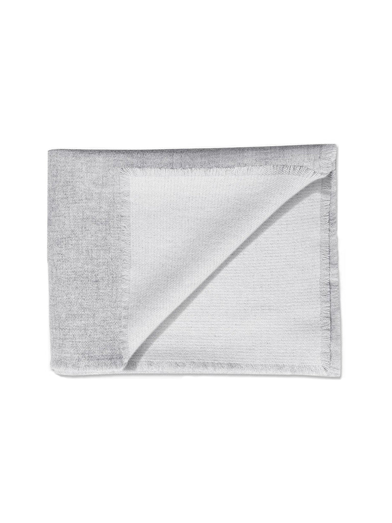 Double Sided Cashmere Throw - Grey / Ivory - color option