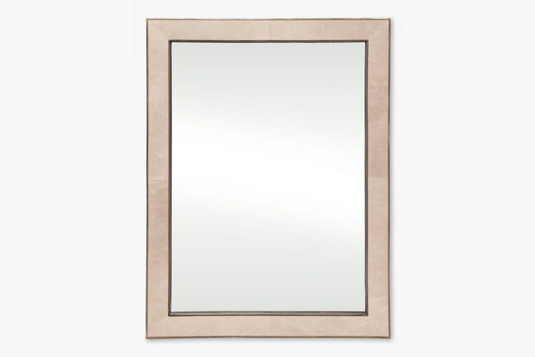 Mica Leather Mirror