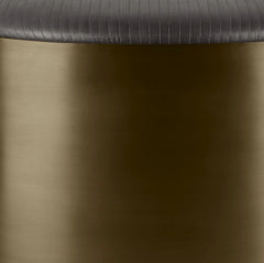 Leather | Wolf & Antique Brass Base - color option
