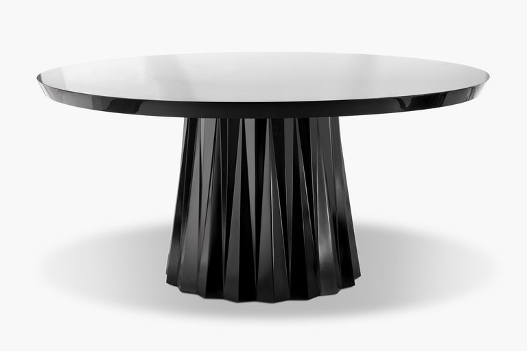 Kingsley Black Lacquer Dining Table