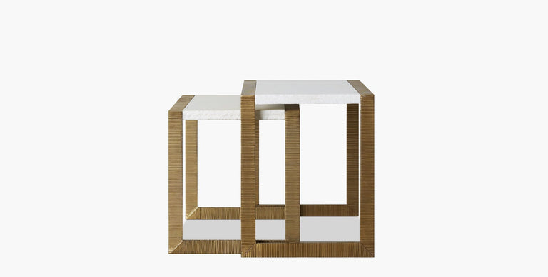 Hawthorn Brass Scribed Nesting Table