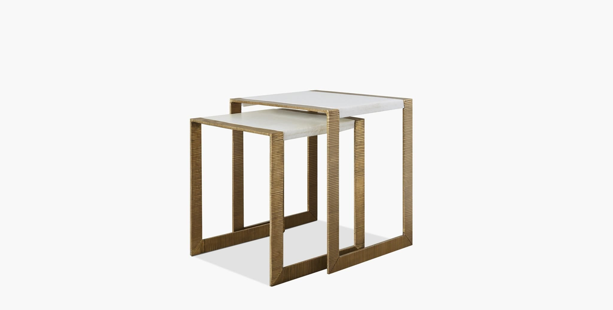 Hawthorn Brass Scribed Nesting Table - thumbnail 1