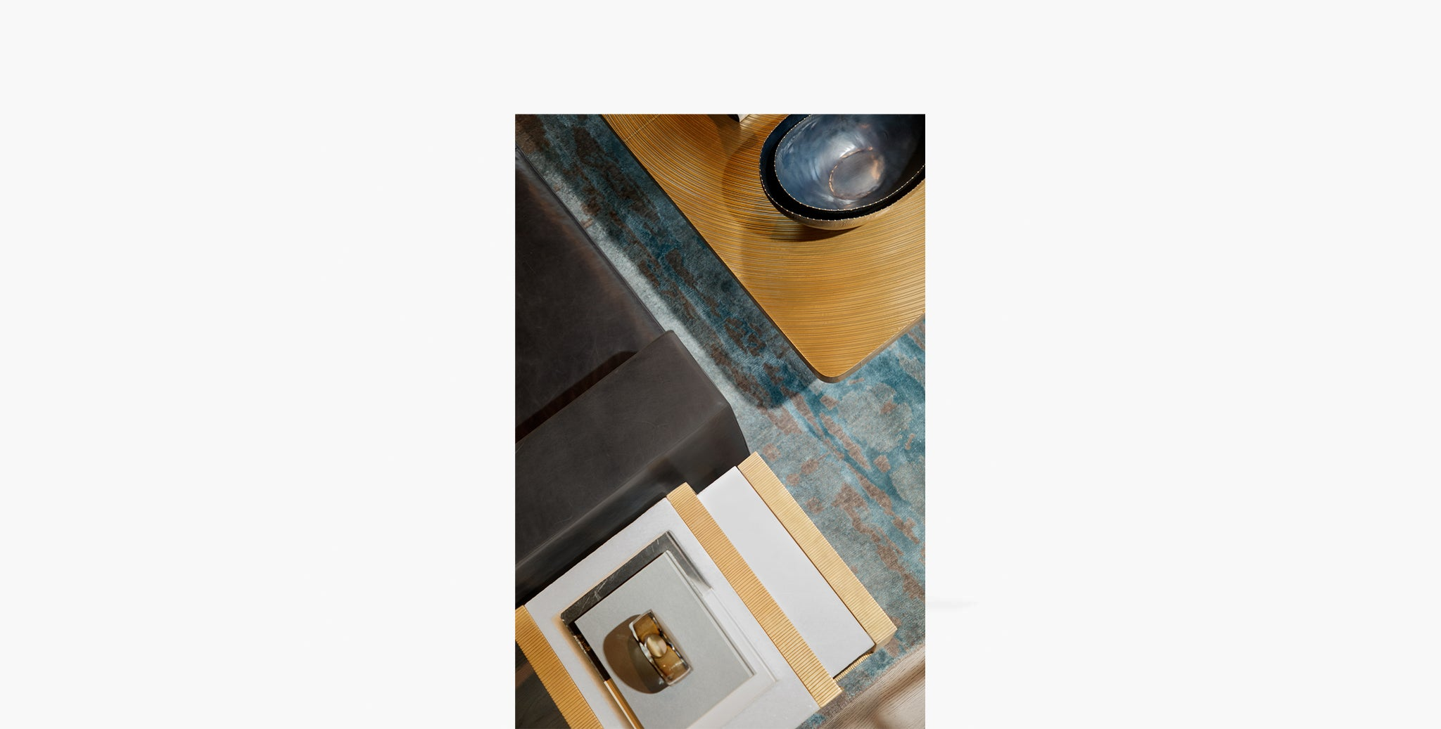 Hawthorn Brass Scribed Nesting Table - thumbnail 4