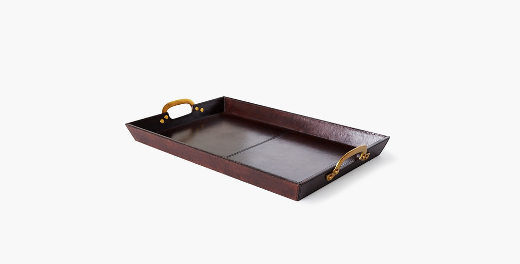 Cade Leather Serving Tray - 2