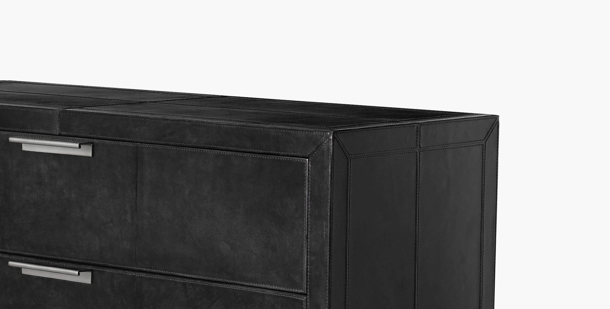 Finley Leather Nightstand - thumbnail 3